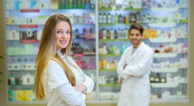 pharmacists standing
